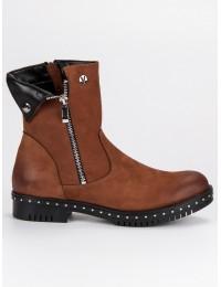 Madingi rudos natūralios odos batai - 1266/5BR