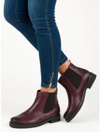 Natūralios odos bordo spalvos batai VINCEZA - WZ1269/5R