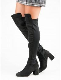 Išskirtiniai aukštos kokybės juodi batai virš kelių - YQE19-1773B