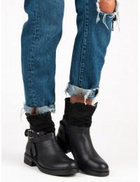 Juodi aukštos kokybės batai su pašiltinimu - S152B