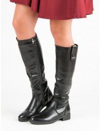 Šilti aukštos kokybės juodos spalvos batai - DKZ464/18B