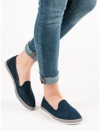 Natūralios odos mėlyni batai - DP081/19N