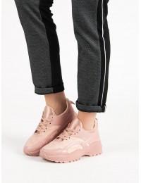 Rožiniai SNEAKERS modelio batai su platforma - MM-2P