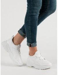 Balti SNEAKERS modelio batai su platforma - MM-2W