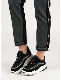 Juodos spalvos madingi batai - 8439-1B