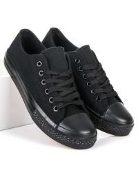 Juodi suvarstomi stilingi batai - XL03B/