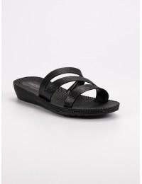 Juodos stilingos šlepetės - SY19-8940B