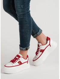 Stilingi baltos spalvos batai su platforma - LA50R
