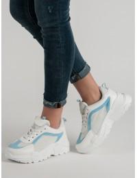 Baltos/ melsvos spalvos sportinio stiliaus batai - LT1001-4BL