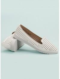Ažūriniai baltos spalvos batai - D-52W