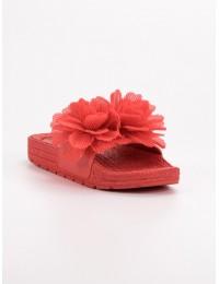 Stilingos šlepetės dekoruotos gėlėmis - CK88R