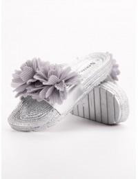 Stilingos šlepetės dekoruotos gėlėmis - CK88S