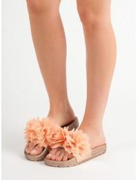 Stilingos šlepetės dekoruotos gėlėmis - CK88CH
