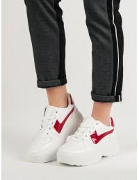 Madingi balti batai su platforma - K1927501ROJO