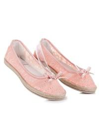 Romantiško stiliaus nertos balerinos - B786-21OR
