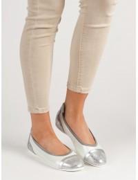 Natūralios odos balti stilingi batai - DP704/19W
