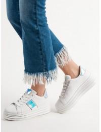 Balti madingi batai su platforma - K-387W/S