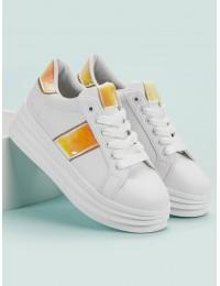Balti madingi batai su platforma - K-387W/CH