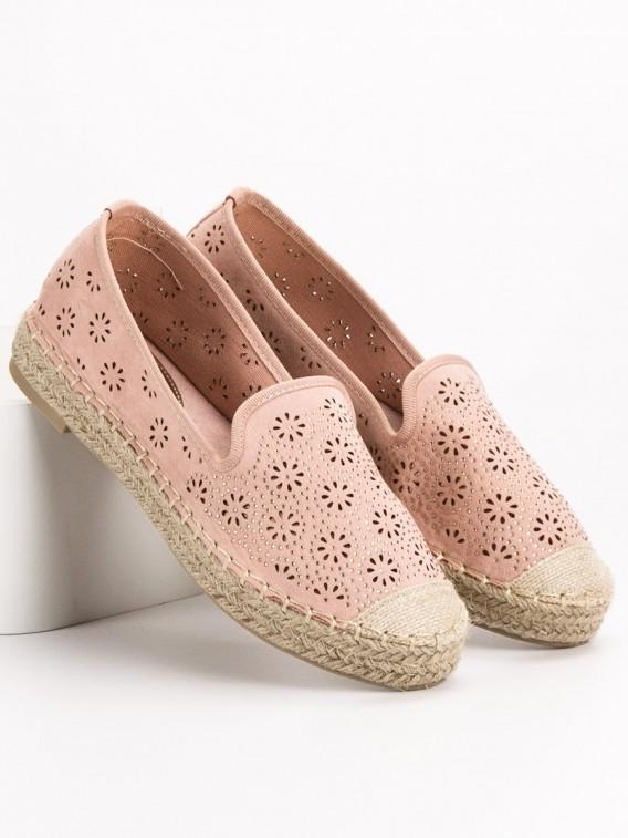 Rožinės spalvos ažūrinės espadrilės VICES - 9269-20P