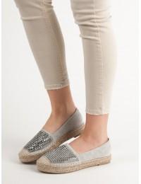 Elegantiškos pilkos spalvos espadrilės - 9270-5G
