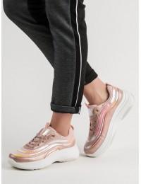 rožinės spalvos madingi batai su platforma - BO-89P
