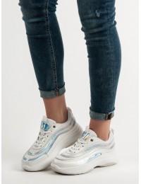 Baltos spalvos madingi batai su platforma - BO-89W