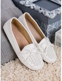 Klasikinio stiliaus balti mokasinai - 8289W