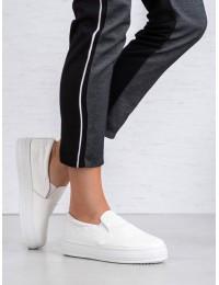 Balti stilingi laisvalaikio bateliai