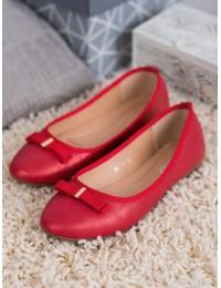 Raudonos spalvos balerinos