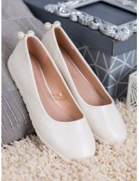 Baltos spalvos balerinos - LE19-2802W