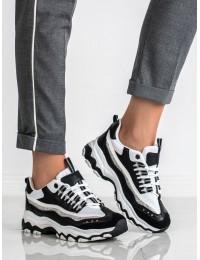 Madingi aukštos kokybės SNEAKERS modelio batai - MM-5B/W