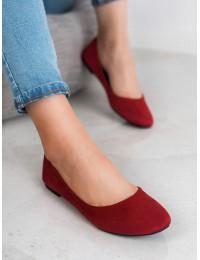 Raudonos spalvos klasikinio stiliaus balerinos