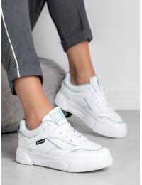 Balti sportinio stiliaus batai - BRD9711W/BL