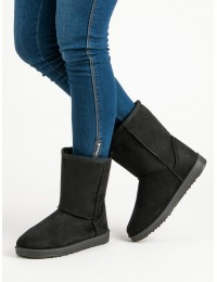 UGG stiliaus juodi žieminiai batai - SP03B