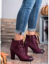 Aukštos kokybės batai patogiu plačiu kulnu - HX20-16106BUR