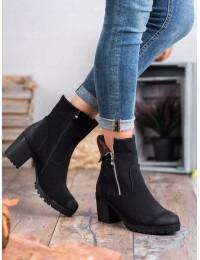 Madingi juodos spalvos batai VINCEZA - HX20-16098B