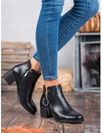 Klasikinio stiliaus juodi aukštos kokybės batai - XY20-10482B