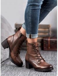 Rudos spalvos aukštos kokybės suvarstomi batai - XY20-10458C