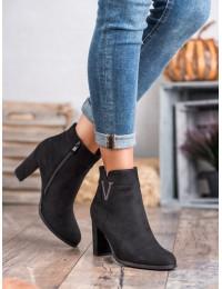 Aukštos kokybės juodos spalvos zomšiniai batai - HX20-16087B