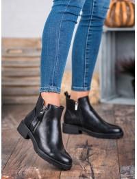 Juodi aukštos kokybės eko odos batai - XY20-10479B