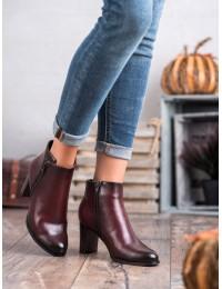 Elegantiški bordo spalvos batai - XY20-10489BUR