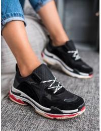 Madingi juodi sportinio stiliaus batai - RB5728B