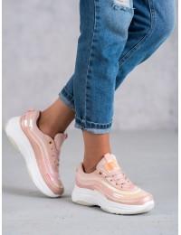 Madingi sportinio stiliaus rožinės spalvos batai - B5134P