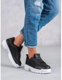 Madingi juodos spalvos batai - DSC82-1B/W