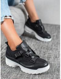 Juodi išskirtiniai stilingi batai - B5136B