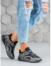 Stilingi pilkos spalvos SNEAKERS modelio batai - S420G