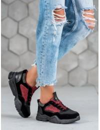Stilingi juodos spalvos SNEAKERS modelio batai - S409B