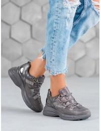 Pilkos spalvos sportinio stiliaus batai - S413G