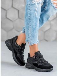 Juodos spalvos sportinio stiliaus batai - S413B