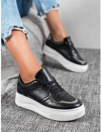 Juodos spalvos batai su platforma - H99-38B